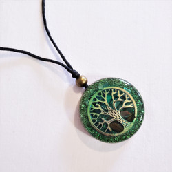 Fair trade tree of life resin pendant from Chile