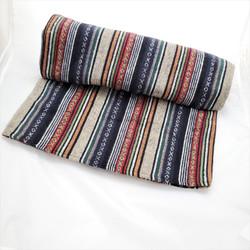 fair trade woven cotton gyari blanket from nepal