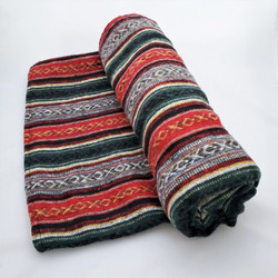 fair trade woven cotton gyari blanket from nepal
