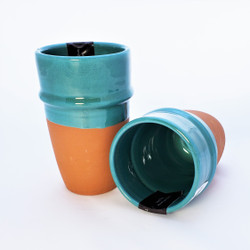 Fair trade glazed clay beldi cup from Mexico