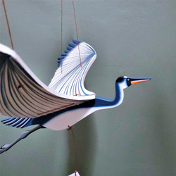Fair Trade Flying Blue Heron Mobile from Colombia