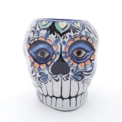 Fair Trade Hand Painted Ceramic Sugar Skull Mug from Guatemala