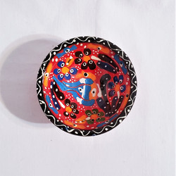 Fair Trade Relief Style Hand Painted Ceramic Dish from Turkey