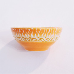 Fair trade relief style hand painted little bowl from Turkey