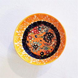 Fair trade relief style hand painted mini bowl from Turkey