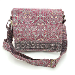 Fair trade cross body purse with overflap from Turkey