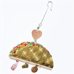 Fair trade mixed metal taco ornament from Thailand