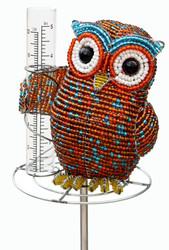 Fair trade beaded owl rain gauge from Haiti