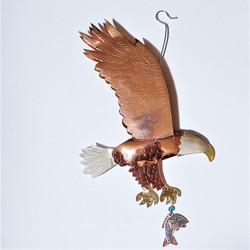 Fair trade mixed metal eagle ornament from Thailand