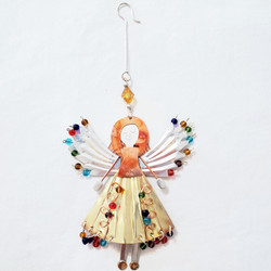 Fair trade mixed metal angel ornament from Thailand