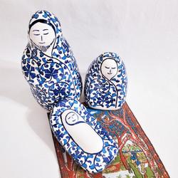 Hand crafted fair trade ceramic Holy Family nativity from Turkey