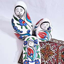 Hand crafted fair trade ceramic Holy Family nativity from Turkey