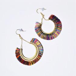 fair trade thread fringe dangle earrings from India