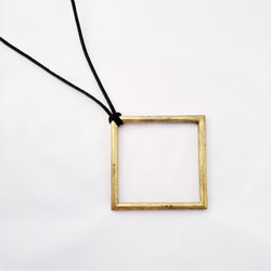 Fair trade lost wax brass pendant necklace from Ghana
