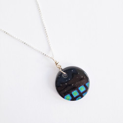 fair trade fused glass necklace from Chile