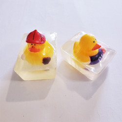 hand made mild glycerin soap with rubber ducky made in usa