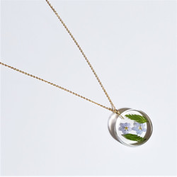 fair trade forget me not eco resin and gold plated necklace from Colombia
