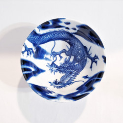 fair trade flying dragon stoneware rice bowl from Japan
