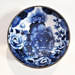 fair trade komainu lion dog stoneware serving bowl from Japan