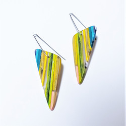 fair trade eco-resin dangle earrings from Colombia