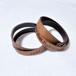 Fighting for what's right quote leather bracelet from south africa