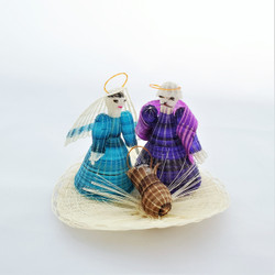 fair trade hand woven crin horsehair holy family nativity from Chile