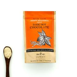 fair trade ashwagandha infused vegan drinking hot chocolate mix