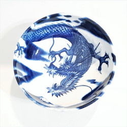 Fair trade flying dragon serving bowl from Japan