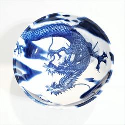 Fair trade flying dragon serving bowl from Japan