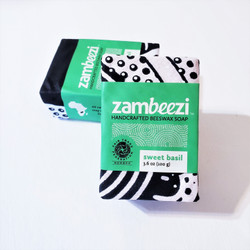 hand crafted sweet basil soap from zambia