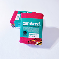 hand crafted spearmint soap from Zambia