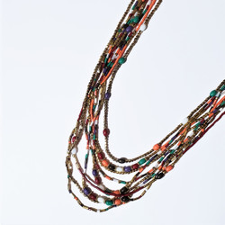 Fair trade multi strand beaded necklace from India