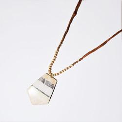 Fair trade bone pendant necklace from India