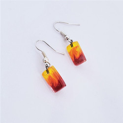 fair trade fused glass earrings from Chile