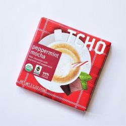 fair trade TCHO peppermint mocha chocolate bar