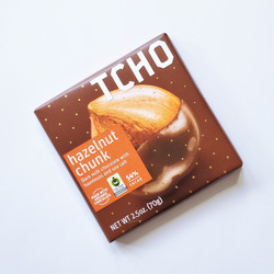 Fair Trade TCHO hazelnut chunk chocolate bar