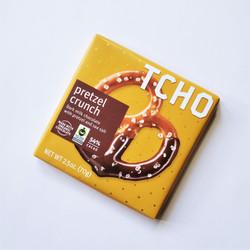 Fair trade TCHO pretzel chocolate bar