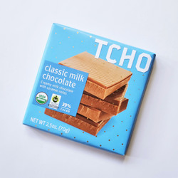fair trade TCHO milk chocolate bar