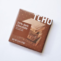 Fair trade TCHO dark chocolate bar