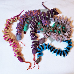 fair trade felted wool snake from mongolia