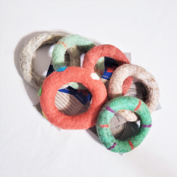 fair trade felted wool dog or cat toy from Mongolia