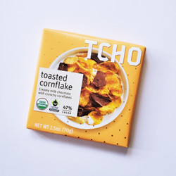 fair trade TCHO toasted cornflake chocolate bar