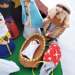 fair trade felted world nativity from Nicaragua