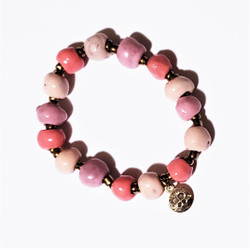 Fair trade ceramic bead bracelet from Haiti