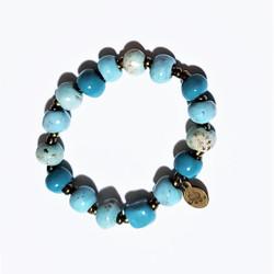 Fair trade ceramic bead bracelet from Haiti