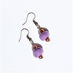 fair trade ceramic bead earrings from Haiti