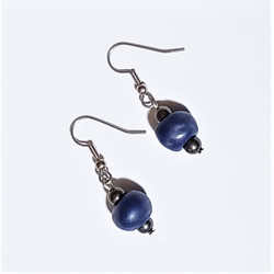 fair trade ceramic bead earrings from Haiti