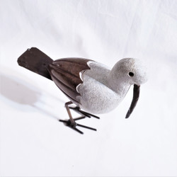 fair trade springstone and metal bird sculpture from Zimbabwe