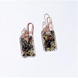 fair trade enameled copper dangle earrings from Chile