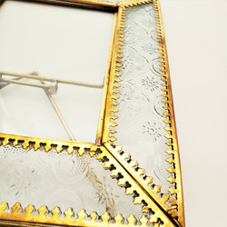 Fair trade embossed glass picture frame from India